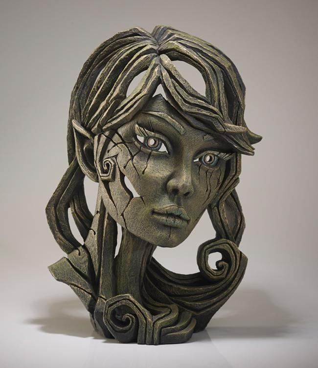 Elf Bust - Leaf by Edge Sculptures by Matt Buckley