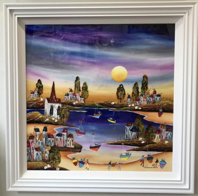 Evening Beach II (35 x 35) by Rozanne Bell