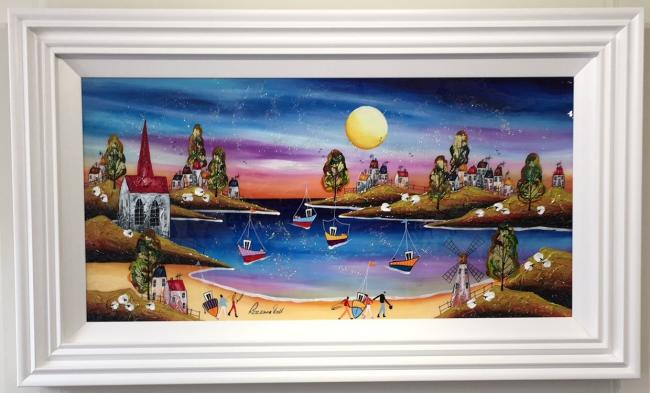 Evening Beach II (36 x 18) by Roz Bell