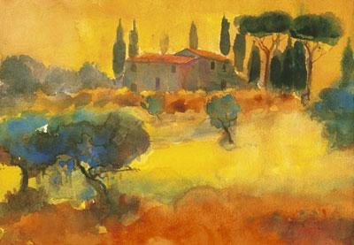 Evening, Tuscany by Cecil Rice