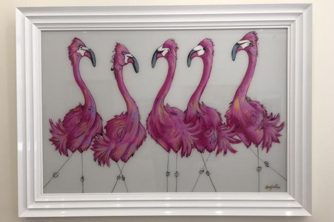 Flamingo Flamboyance by Amy Louise