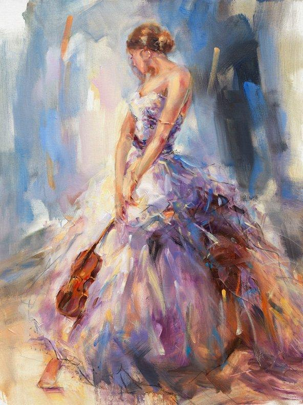 Flirting With Violin by Anna Razumovskaya