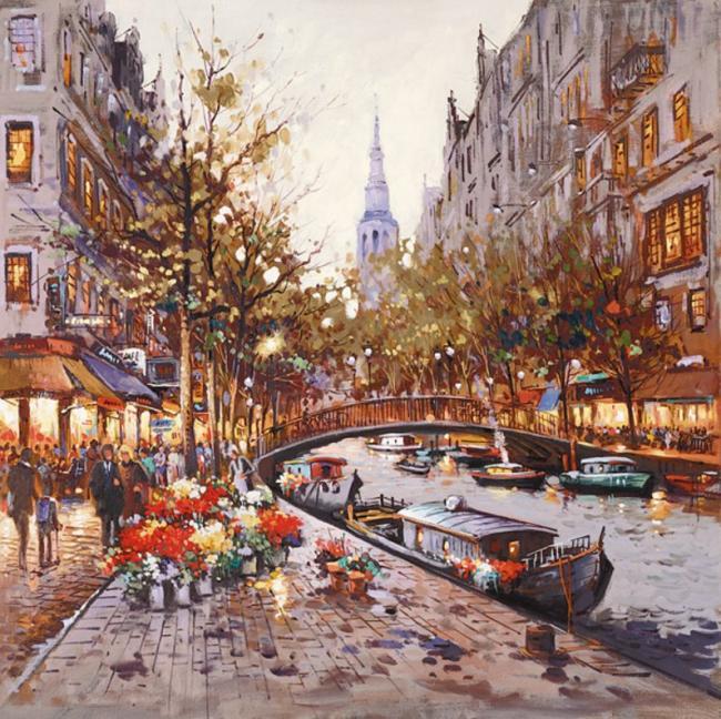 Flower Stall, Amsterdam by Henderson Cisz