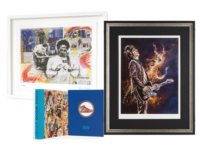 Framed Self Portrait ii with Keith Framed Limited Edition Print & Book Package by Ronnie Wood