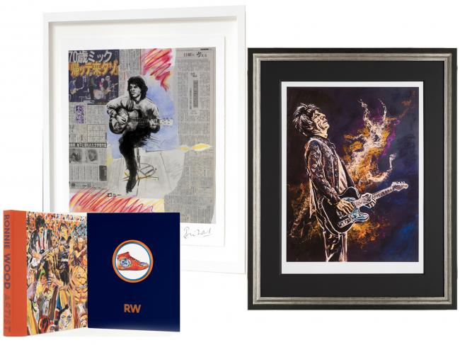 Framed Self Portrait ii with Mick Framed Limited Edition Print & Book Package by Ronnie Wood