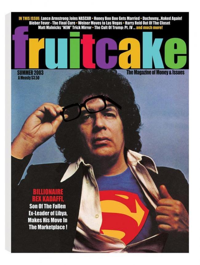 Fruitcake - Billionaire Rex Kadaffi - Canvas by Bob Dylan