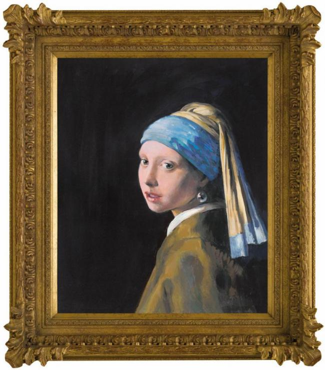 Girl With A Pearl Earring (In The Style of Johan Vermeer) by John Myatt