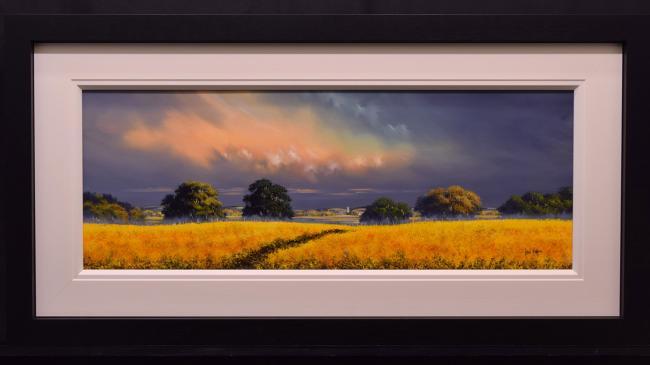 Golden Pathway III (40x15) by Allan Morgan
