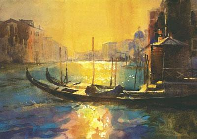 Gondolas Mid Afternoon by Cecil Rice