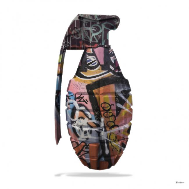 Graffiti Grenade- Small by Monica Vincent