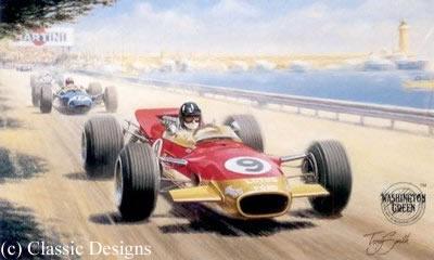 Graham Hill - World Champion 1962 & 1968 by Tony Smith