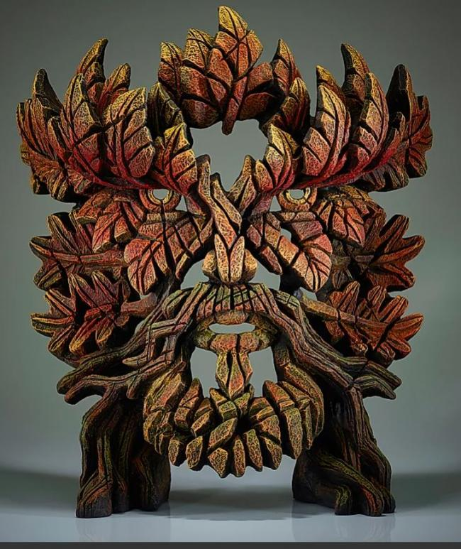 Green man Autumn Flameby Edge Sculptures by Matt Buckley