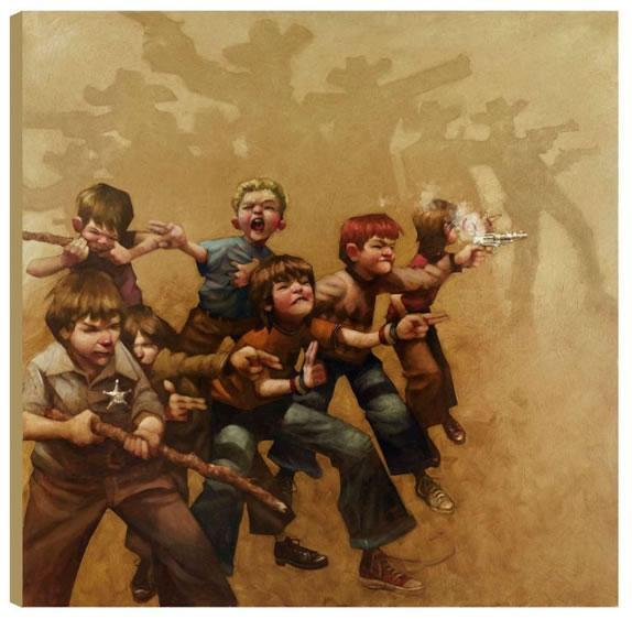 Guns of the Magnificent Seven - Box Canvas by Craig Davison