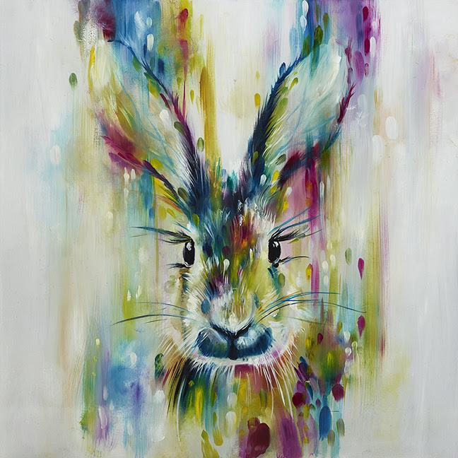 Hare- Escape (Large) by Katy Jade Dobson