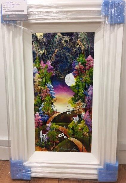 Harvest Moon (12 x 24) by Rozanne Bell