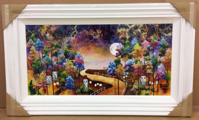 Harvest Moon I 36 x 18 by Roz Bell