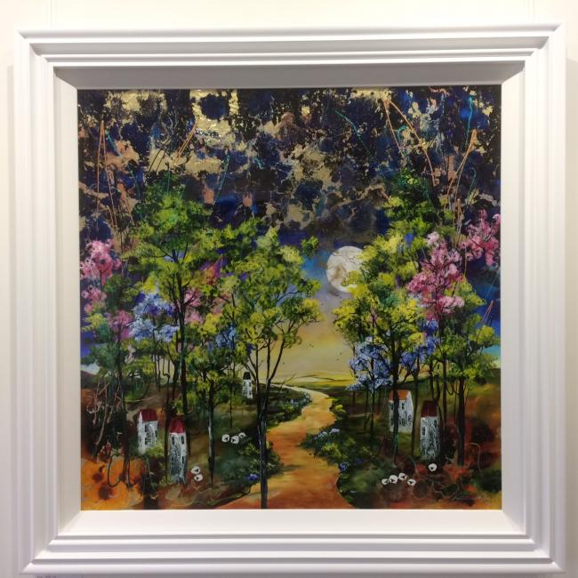 Harvest Moon II (35 x 35) by Rozanne Bell