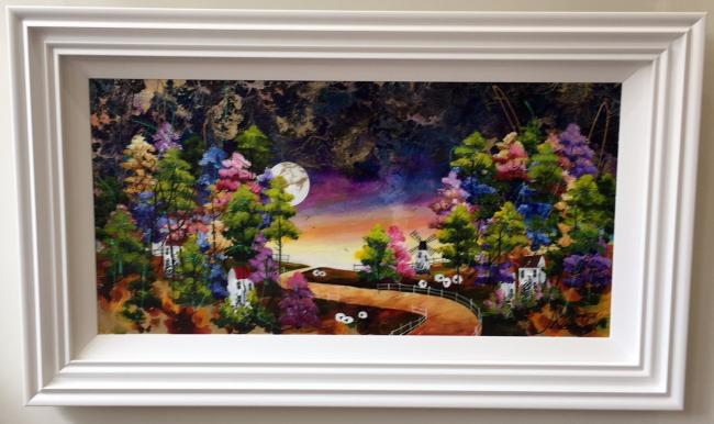 Harvest Moon VI (36 x 18)by Roz Bell