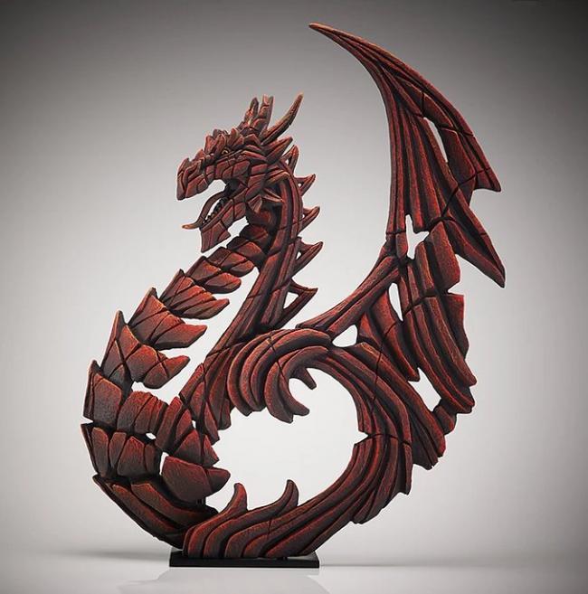 Heraldic Dragon (Red) by Edge Sculptures by Matt Buckley