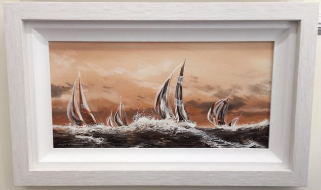 High Seas - Mono Chrome Series by Dale Bowen