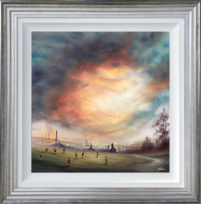 I'm Batting Next- Canvas by Danny Abrahams
