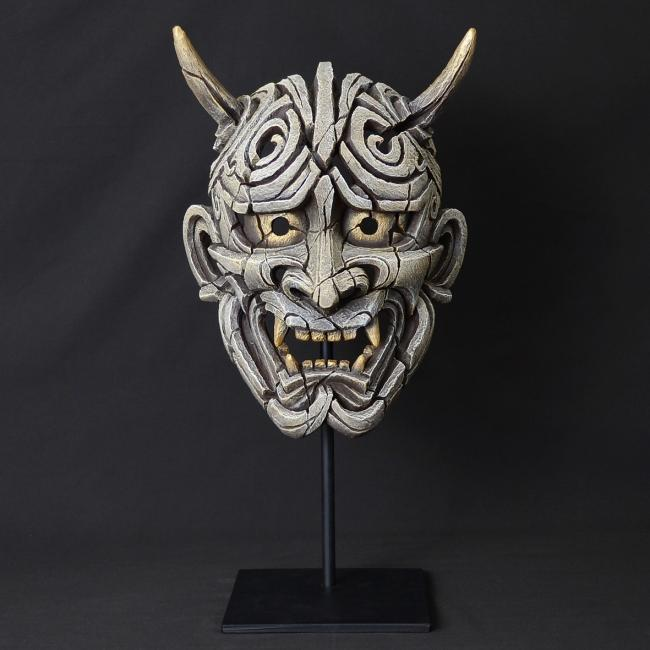 Japanese Hannya Mask - White by Edge Sculptures by Matt Buckley