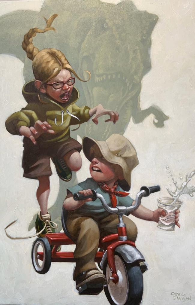 Keep Absolutely Still Her Vision Is Based On Movement by Craig Davison