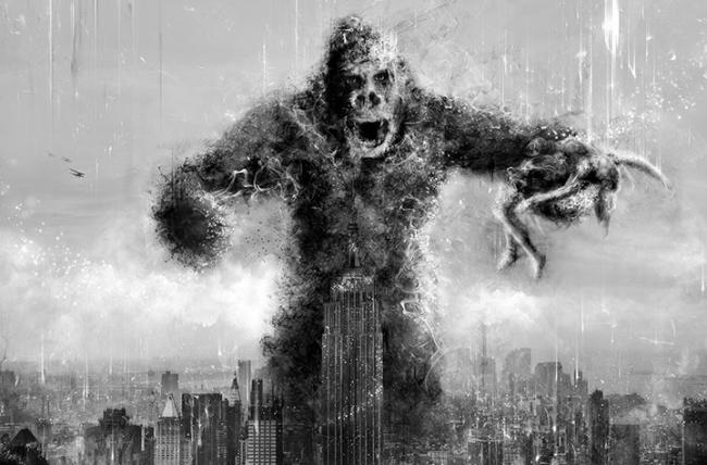 King Kong New York Skyline - Kong - Deluxe by Mark Davies
