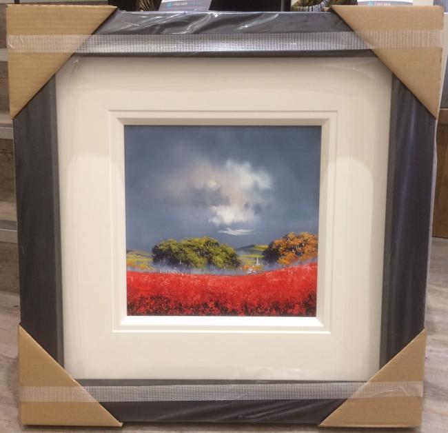 Landscape Orange (12 x 12) by Allan Morgan