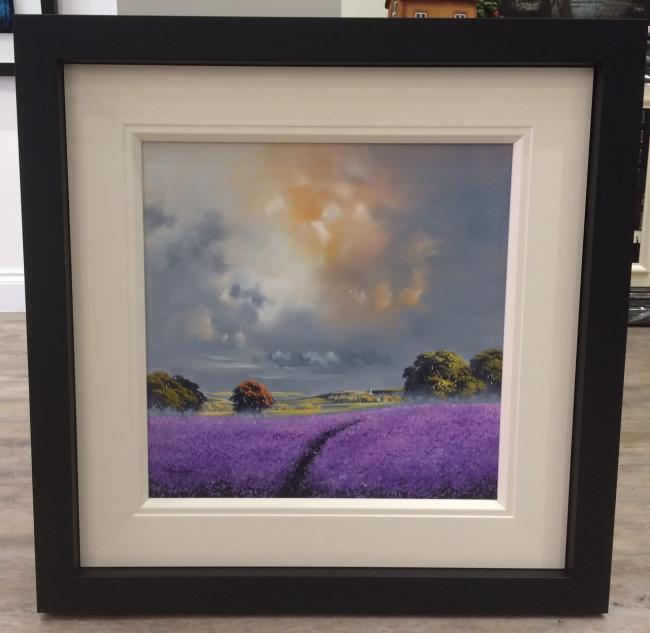Landscape Purple 20 x 20 by Allan Morgan