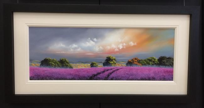 Landscape Purple 40 x 15by Allan Morgan