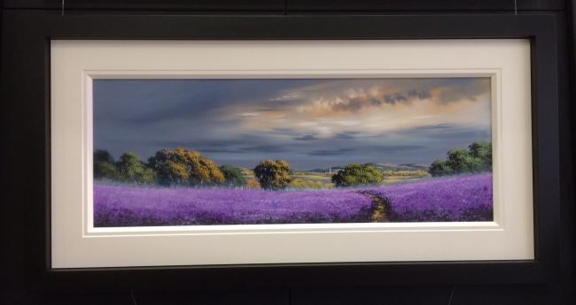 Landscape Purple (40x15) by Allan Morgan