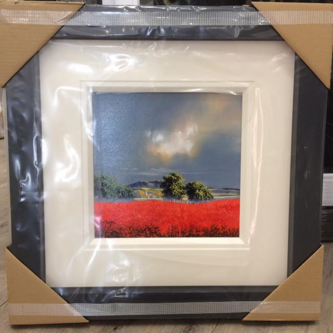 Landscape Red (12x12) by Allan Morgan