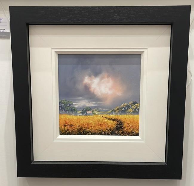 Landscape Yellow (12 x 12) by Allan Morgan