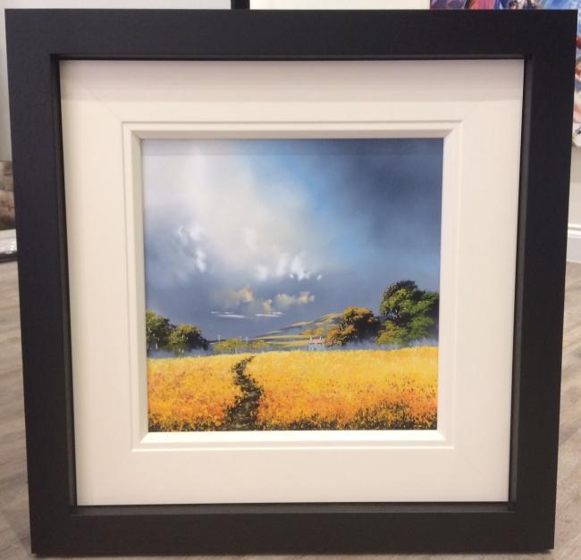 Landscape Yellow 16 x 16 by Allan Morgan