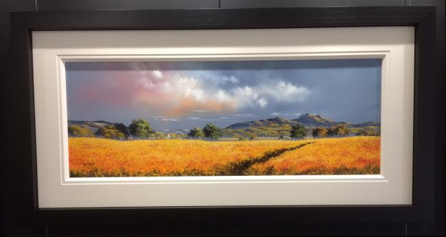 Landscape Yellow (40x15) by Allan Morgan