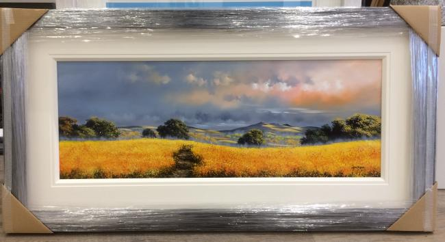 Landscape Yellow I (40 x 15)by Allan Morgan