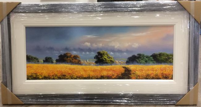 Landscape Yellow II (40 x 15)by Allan Morgan