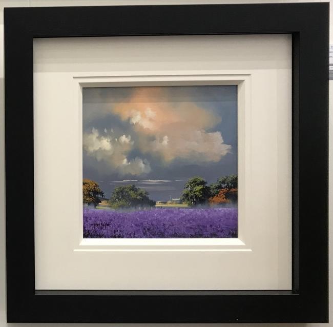 Lavender Fields (12 x 12) by Allan Morgan