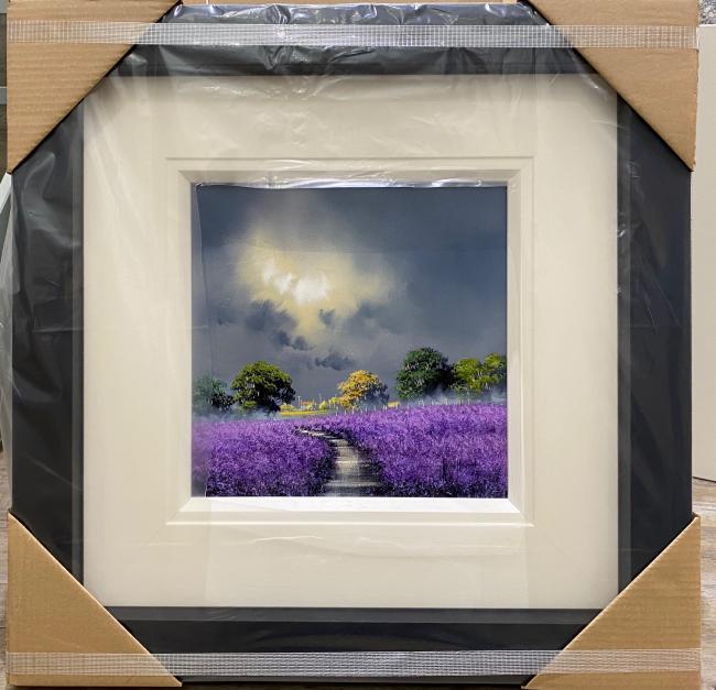 Lavender Fields III (12 x 12) by Allan Morgan