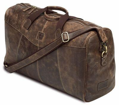 Leather Holdall by Caroline Shotton