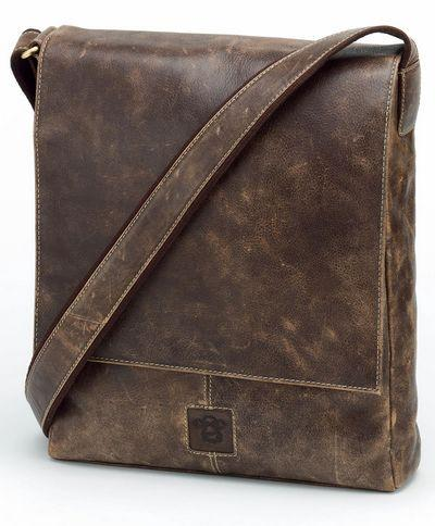 Leather Messenger Bag by Caroline Shotton