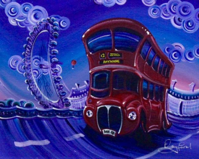 London Bus by Rayford