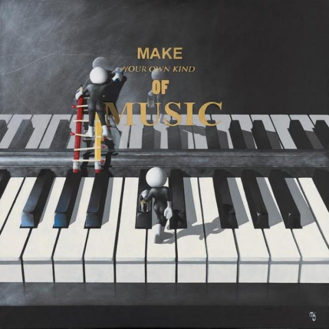 Make Your Own Music - 3D High Gloss by Mark Grieves