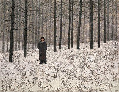 Man Watching Crows by Mark Edwards