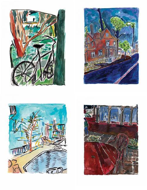 Medium Portfolio Set of 4  -2013 by Bob Dylan