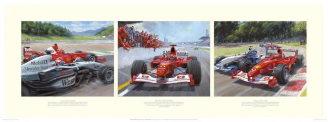 Michael Makes His Point - Michael Schumacher by Tony Smith