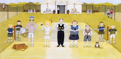 Mixed Up Doubles - Tennis by Linda Jane Smith