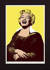 Monroe Lisa - Yellow by Simon Claridge
