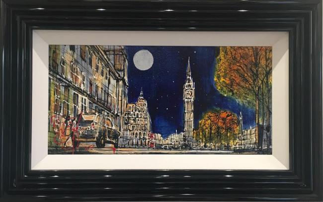 Moonlight Over London by Nigel Cooke
